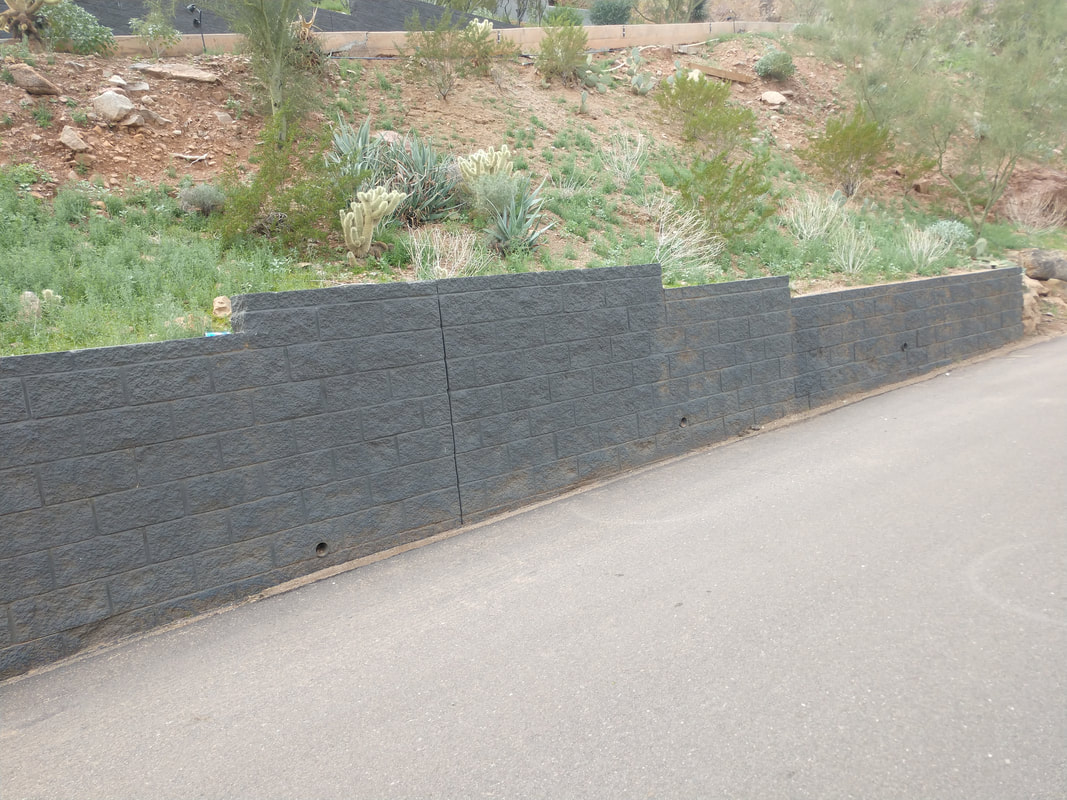 This is a picture of a block fence in Las Vegas NV.