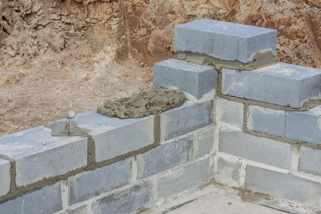 This is a picture of a block wall installation north of LV, NV.