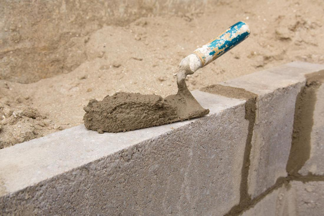 This is a picture of a new concrete block wall near Summerlin Nevada.